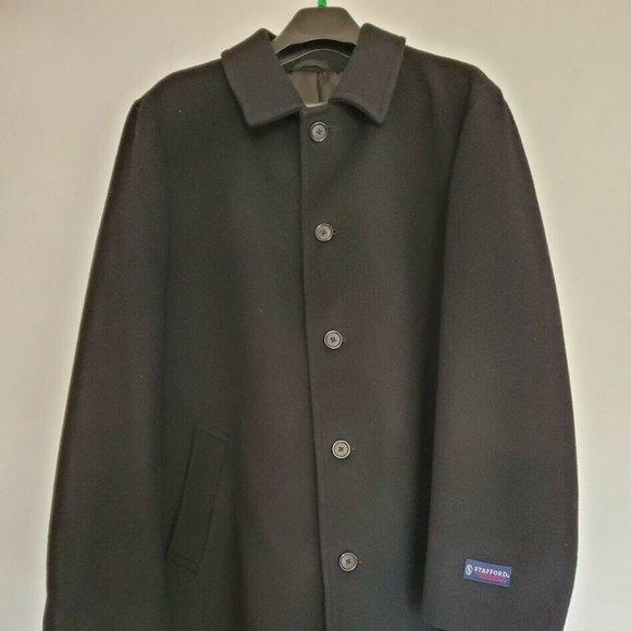 Stafford Performance Full Length Black Wool coat
